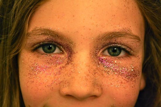Caitlyn with glitter