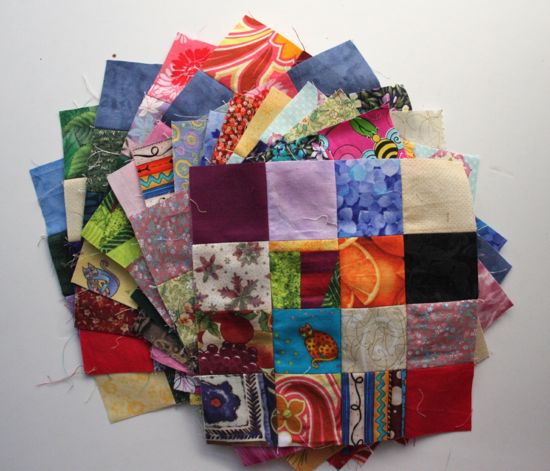 postage stamp blocks for swapping
