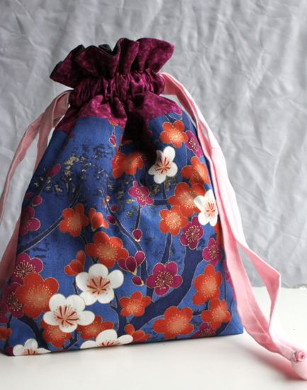 drawstring bag for Sew Grateful Week