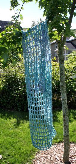 blue mesh shawl/scarf