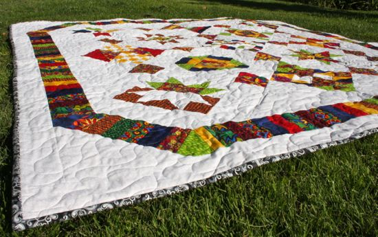 finished Blogger's BOM quilt