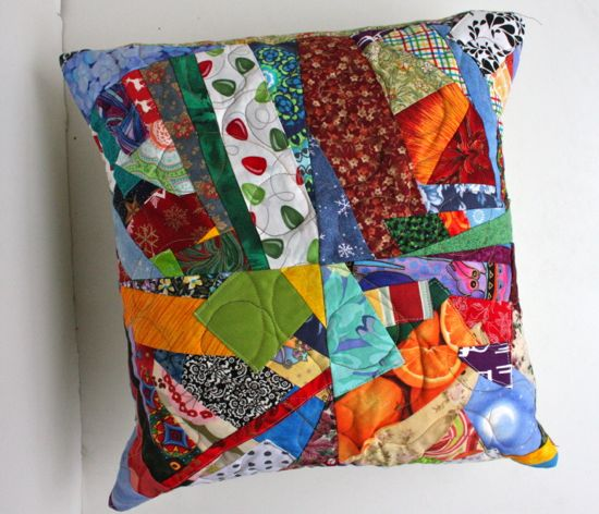 Caitlyn's first patchwork pillow