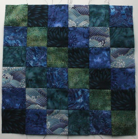 Scrappy Trip block in blues