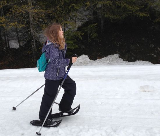 Caitlyn snowshoeing