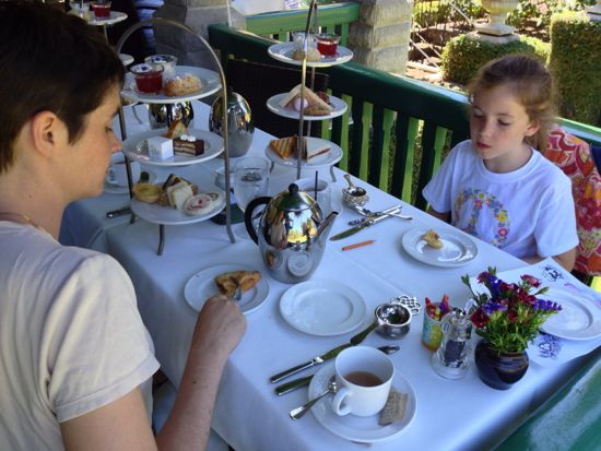 afternoon tea, Butchart Gardens