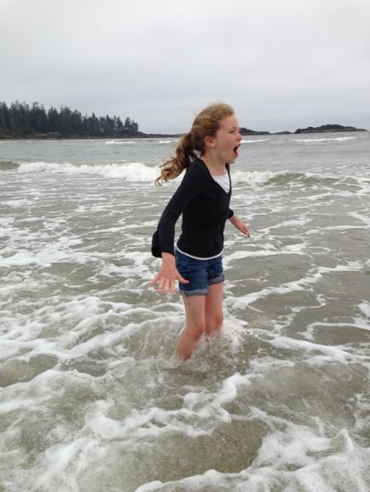 Caitlyn thinks the Pacific isn't cold