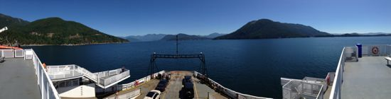 from the ferry sundeck