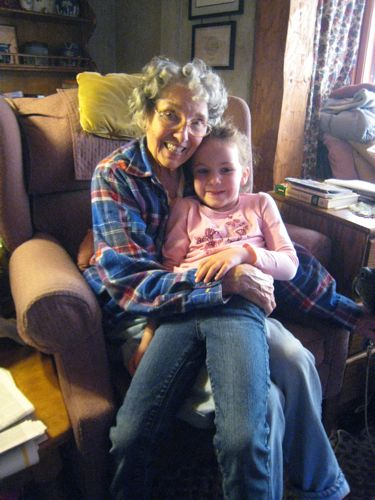 Caitlyn with Great Grandma