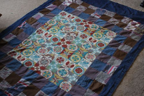 quilt repair -before