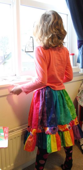 Caitlyn's rainbow skirt
