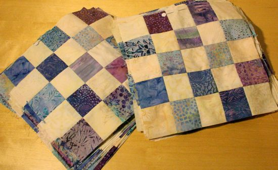 quilt along progress