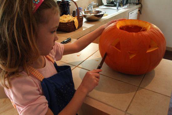 Caitlyn's first jack o lantern