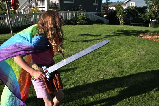 Caitlyn's got a sword!